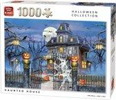 King Puzzel 1000 Stukjes (68 x 49 cm) - Spookhuis - Legpuzzel Halloween