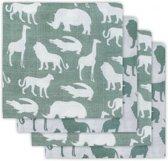 Jollein Safari Hydrofiel luier forest green (4pack)