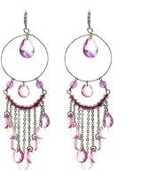Oorbellen hangers roze kraaltjes