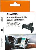 HAWEEL (360 graden draaibaar) Universele zwaartekracht telefoonhouder voor in de auto - Zwart - Ventilatierooster - Mobielhouder - Autohouder - Samsung - iPhone - Nokia - Huawei- Sony -Xiaomi.