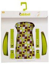 Widek - Qibbel Luxe Stylingset voor Achterzitje - Checked Groen