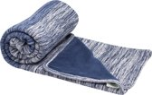 Snoozebaby wieg deken stylish cocooning indigo blue double layer