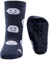 Ewers antislip sokken Stoppi smileys antraciet
