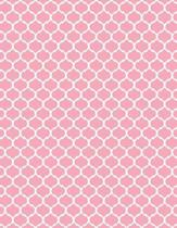 Moroccan Trellis - Pale Pink 101 - Lined Notebook with Margins 8.5x11