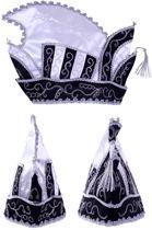 Prinsenmuts zwart - wit