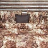 Refined Grizzly flanel dekbedovertrek - Bruin - Lits-jumeaux (260x200/220 cm + 2 slopen)