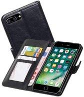 Mobieletelefoonhoesje.nl - Apple iPhone 7 Plus / 8 Plus Portemonnee Hoesje Booktype Wallet Case Zwart