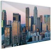 Los Angeles in het avondlicht Glas 60x40 cm - Foto print op Glas (Plexiglas wanddecoratie)