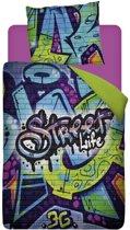 Snoozing Street Life Dekbedovertrek - Eenpersoons