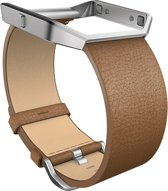 Fitbit Blaze Accessory Band Leer - Bruin - Small
