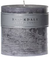 Riverdale Kaars Pillar cool grey 10x10cm