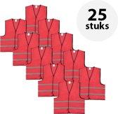 Veiligheidshesje - Veiligheidsvest - Volwassene - Rood - 25 stuks