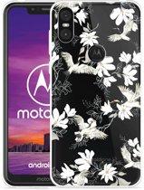 Motorola One Hoesje White Bird