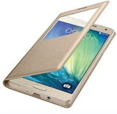Samsung A5 2016 S-View Cover Telefoonhoesje Goud