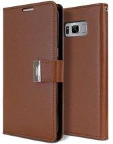 Samsung Galaxy S8 Rich Diary Wallet Case Bruin