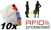 10x Anti Skim Hoes - Rfid blocker - Pinpas hoes - Creditcardhouder