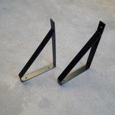 Stalen plankdragers - Zwart - Maak zelf je eigen wandplank!