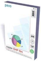 Overheadsheets A4 OHP Folie Copier - 100 mic - transparant - 100 stuks