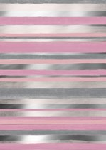 Roze met Zilver cadeaupapier Cabo Raya - Toonbankrol breedte 40cm - 150m lang