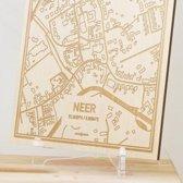 Kaart Neer -  Gegraveerde stadskaart Hood&Wood - Hout, A4