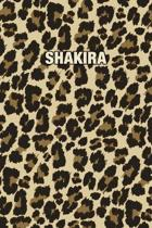 Shakira: Personalized Notebook - Leopard Print (Animal Pattern). Blank College Ruled (Lined) Journal for Notes, Journaling, Dia