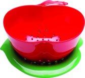 Zak! Designs Vergiet - Appelvorm - 16 cm - Rood/Groen