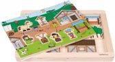 Houten rollenspel puzzel markt