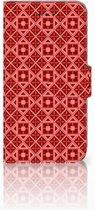 iPhone X | Xs Bookcase met ruimte voor pasjes Batik Red