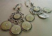 Dolce Luna bijoux Earrings silverPretty pastel verzilverd met Swarovski Kristal silver