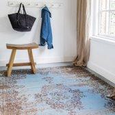 Vintage Vloerkleed Bloom - Blauw/Grijs - EVA Interior 80 x 150