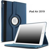 Ntech Apple iPad Air 10.5 (2019) Draaibaar Hoesje 360 Rotating Multi stand Case - Donker Blauw
