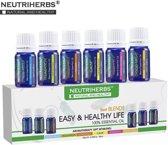 Geuren Set Etherische Olien 2x6 - 12x10 ML - Puur & Natuurlijk - cadeau verpakking voor Aroma diffusers - Aromatherapie - Kalmerende werking