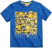 Minions-T-shirt-met-korte-mouw-blauw - Maat 116