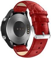 Just in Case Huawei Watch 2 Sport Bandje Crocodile Leer - Rood