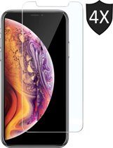 4x Apple iPhone Xs Max Screenprotector Glazen Gehard | Case Friendly | Tempered Glass - van iCall