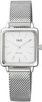 Q&Q Vierkant dames horloge zilverkleurig QB51J201