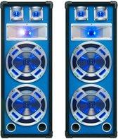"Set van twee dubbele 8"" Speakers met LED verlichting"