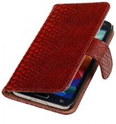 Samsung Galaxy S5 Hoesje Slang Bookstyle Rood