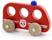 Simply houten grijpauto brandweer