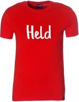 Held T-shirt boy rood 152-164