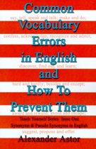 Common Vocabulary Errors in English and How to Prevent Them