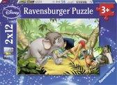 Ravensburger Disney Mowgli en zijn vrienden Twee puzzels van 12 stukjes