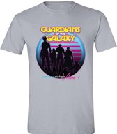 Guardians of the Galaxy - Retro Cover Mannen T-Shirt - Grijs - L