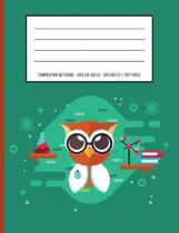 Cute Owl Periodic Table Chemistry Composition Notebook