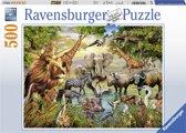 Ravensburger puzzel Majestueuze drinkplaats - legpuzzel - 500 stukjes