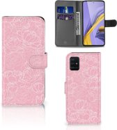 Samsung Galaxy A51 Wallet Case White Flowers