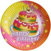 feestborden happy birthday 23 cm 8 stuks
