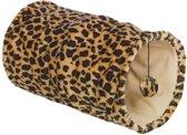 Leuke Katten Speeltunnel Luipaard zwart/beige 25x25x50cm