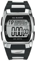 All Blacks 680023 digitaal horloge 37 mm 100 meter zwart/ grijs