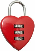 Liefdesslot- Love slot - Love Lock - Cijferslot LOVE - Erotiek love slot Hart-vormig -